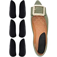 Dr. Foot's Orthopedic Medial & Lateral Heel Wedge Gel Insoles for Supination & Pronation, Adhesive Inserts for Foot Alignment, Knee Pain, Bow Legs, Osteoarthritis - 3 Pairs (Black(PU Gel))