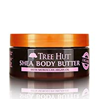 Tree Hut 24 Hour Intense Hydrating Shea Body Butter Moroccan Rose, 7oz, Hydrating Moisturizer with Pure Shea Butter for Nourishing Essential Body Care