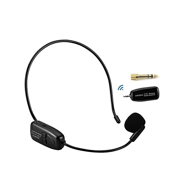 Wireless Microphone System,KIMAFUN 2.4G Wireless Headset microphone,Headset And Handheld 2 In 1,for Voice Amplifier,Teaching Computer,Teachers Smart Phoneandlic Speaking,G120 Speaker,PA system
