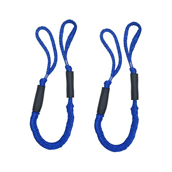 4ft Bungee Stretching Dock Line for Boats PWC Pontoon Boat Dockline /& Tie Down