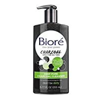 Bioré Deep Pore Charcoal Daily Face Wash, 6.77 Ounce, with Deep Pore Cleansing for Dirt and Makeup Removal From Oily Skin