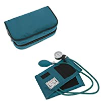 Manual Blood Pressure Monitor BP Cuff Gauge Aneroid Sphygmomanometer Machine Kit Ideal Gift for Medical Students, Doctors, Nurses, EMT, Paramedics and Firefighter … (Teal)