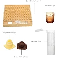 SM SunniMix Beekeeping Complete Queen Rearing Kit Cell Cups Hair Roller Cages Tool Set Beekeeper