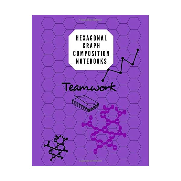 Hexagonal Graph Composition Notebooks: Biochemistry Note Book & Organic Chemistry 105 Pages, 8.5 X 11 Inches/ Notebook Purple                         (Paperback)