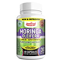 Strongest Improved 6000 Mg Moringa Capsules Energy Supplement Immune System Booster Green Super Food Antioxidant Supplement Moringa Green Powder Gluten Free Non-GMO Vegan USA Made.