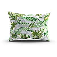 Sgvsdg Throw Pillow Cover Seamless Pattern Leaves Tropical Palms Triangles African Art Background Rectangle Hidden Zipper Home Sofa Living Room Office Cushion Decorative Pillowcase 12 X 20 Inch