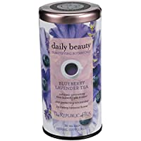 The Republic of Tea Beautifying Botanicals Daily Beauty Herbal Tea, 36 Tea Bag Tin