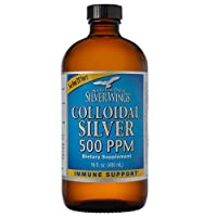 Natural Path Silver Wings - Colloidal Silver 500 ppm - Pure Mineral Supplement - Immune Support for Your Family - Powerful Healing without a Bad Taste (16 ounce, 480ml)
