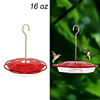 Maggift 16 oz Hanging Hummingbird Feeder with 8 Feeding Ports