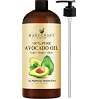 Handcraft Pure Avocado Oil - 100% Pure and Natural - Premium Quality Cold Pressed Carrier Oil for Aromatherapy, Massage and Moisturizing Skin - Hexane Free - 16 oz - Packaging May Vary