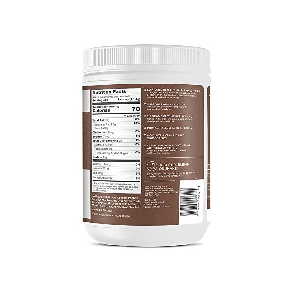 Primal Kitchen Collagen Fuel Protein Mix, Chocolate Coconut, Supports Healthy Hair, Skin, and Nails , 13.9 Ounce (Pack of 1)