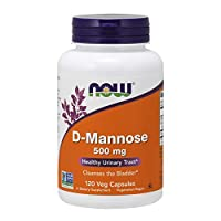 NOW Supplements, D-Mannose 500 mg, Non-GMO Project Verified, Healthy Urinary Tract*, 120 Veg Capsules