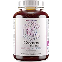 Male Fertility Supplement 120 Ct - Support Mens Sperm Count, Healthy Volume, Motility - All Natural Sperm Booster, Volumizer, Herbal Vitamin Blend, Aid Infertility, Conception For Him - 2 Month Supply