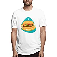 Fajita Sandwich with Tomatoes, Onion, Chicken Meat and Pepper On Golden PlateShort-Sleeve T-Shirt