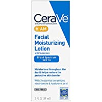 CeraVe Facial Moisturizing Lotion AM SPF 30 | 3 oz | Daily Face Moisturizer with SPF | Packaging May Vary