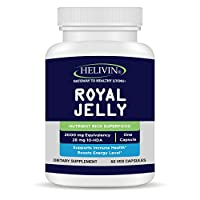 Helivin Royal Jelly – 2000 MG Equivalency – No Magnesium Stearate - Veggie Capsules