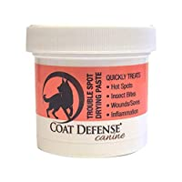 Coat Defense Trouble Spot Drying Paste For Dogs   Naturally Anti Fungal Anti Bacterial Treats Hot Spots, Itchy Skin, Skin Allergies, Dermatitis Inflammation, Insect Bites, Wounds, Sores   Made In USA
