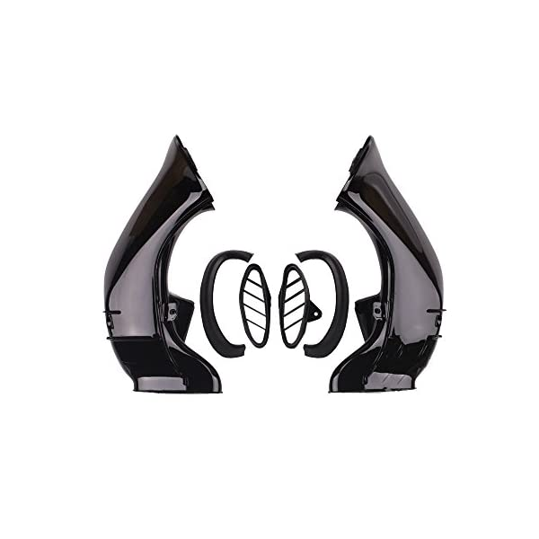 Motorcycle Left /& Right Air Intake Tube Duct Compatible with YAMAHA YZF R1 YZF-R1 2007 2008 HTTMT CFP-1039-8