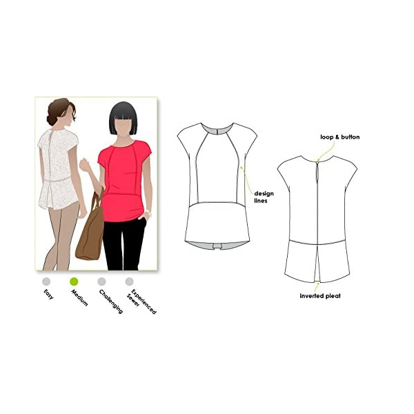 Sizes 04-16 Blaire Shirt or Dress - Click for Other Sizes Available Style Arc Sewing Pattern