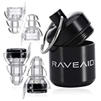 RaveAid High Fidelity Earplugs - Concert Earplugs, for Musicians, Concerts, Motorcycle Riders, Rave Music, Festival, Acoustic Vibes - HiFi, Best Noise Reducing, Musician
