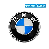 1pc 82mm BMW 2 pin Emblem Logo Replacement for Hood//Trunk for ALL Models BMW E30 E36 E46 E34 E39 E60 E65 E38 X3 X5 X6 3 4 5 6 7 8 Haocc Loud