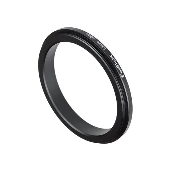 Pentax 58mm 52-58mm Macro Close-up Reverse Ring Panasonic Samsung Camera Olympus Sony Fotodiox 52mm Canon for Nikon Anodized Black Metal Ring