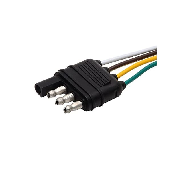 225FWY 2 Feet Trailer Light Wiring Harness Extension 4 Pin Plus 18 AWG Flat Wire Connector