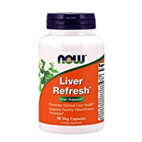 NOW Supplements, Liver Refresh with Milk Thistle Extract and unique Herb-Enzyme blend, 90 Veg Capsules
