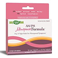 Nature's Way AM/PM Menopause Hormone-Free Formula Daytime Energy & Restful Sleep (60 Count)