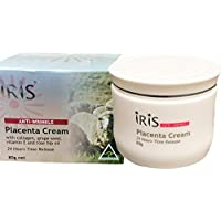 IRIS Placenta Anti Wrinkle Cream With Rose Hip Oil, 24HR Time Release, 1Pc x 80Gr Made in Australia