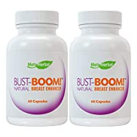 2 Bottles - Bust-Boom! Breast Enlargement/Acne Pills - Female Sexual Enhancement - 120 Day Supply