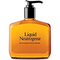 Liquid Neutrogena Fragrance-Free Facial Cleanser with Glycerin, Hypoallergenic & Oil-Free Mild Face Wash, 8 fl. oz