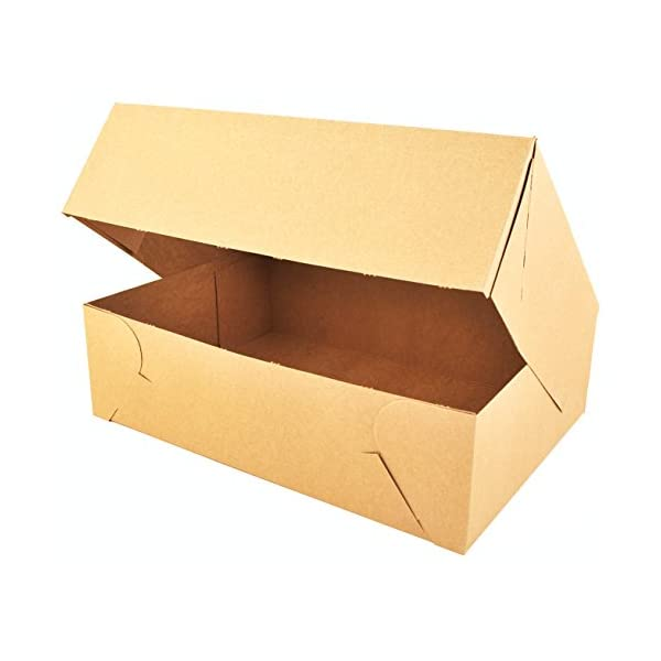 Southern Champion Tray 1029K Kraft Non Window Bakery Box Case of 50 19 Length x 14 Width x 4 Height