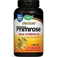 Nature's Way EfaGold Evening Primrose, Cold Pressed Oil 1300mg, 120 Softgels