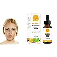 Vitamin C Serum with Hyaluronic Acid No 7 - Stimulates Collagen for Anti-Aging Repairs Dark Circles Around Eyes and Sun Damage for Eye Bags Skin Face & Neck Fades Age Spots Wrinkles