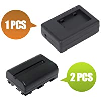 1700 mAh BattPit trade; New 2x Digital Camera Battery 1x Charger Replacement for Sony DSLR-A550