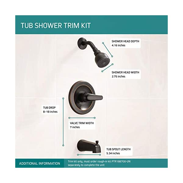 Rough in Valve Included Gabrylly Shower Faucet Single-Function Tub and Shower Trim Kit with 6 Spray Shower Head and Tub Spout Oil Rubbed Bronze