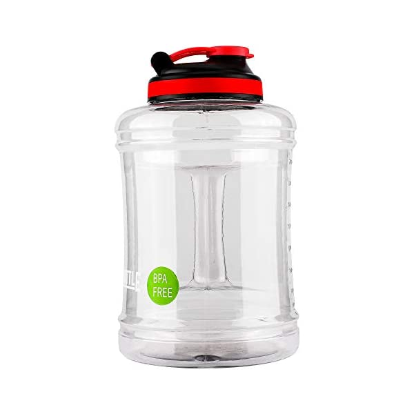 Large Water Bottle Water Jug Durable Water Bottle with Handle BPA Free Reusable Large water bottle with Flip top lid Fintess Sports Water Bottle big Water Container Compatable for Bodybuilding,GYM