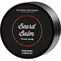 Premium Sandalwood Beard Balm Wax - Best Beard Moisturizer With Tea Tree Oil - Softens & Conditions - For Men Shaping and Styling - Itch Free - Organic Ingredients - 2oz - Made in USA