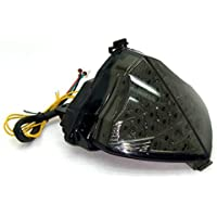 Krator ITL057 Tail Light 2009-2010 Smoke Led with Integrated Turn Signals for Yamaha YZF R1