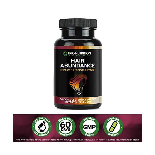 Biotin 10,000mcg - Hair Growth Vitamins for Stronger & Healthier Hair, Skin and Nails | Boosted with Essential Minerals, Collagen and Keratin - Thicker Eyelashes | for Women & Men | Trio Nutrition*