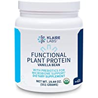 Klaire Labs Functional Plant Protein with Prebiotics - Vanilla Bean (582 Grams / 15 Servings)