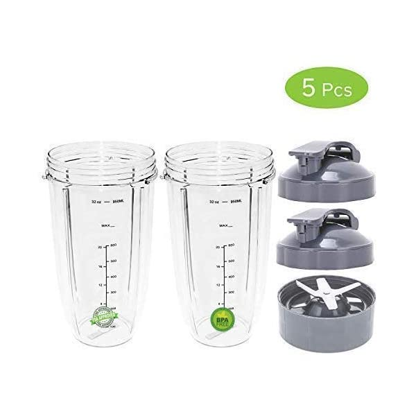 24oz Cup /& Flip Top Lid For Magic bullet Nutribullet 600w /& 900w Sduck Replacement Parts for Nutribullet