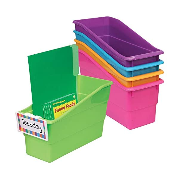 File and Binder Holders Instantly Color Code Your Classroom Set of 6 Book Ideal for Narrow or Vertical Storage Needs Assorted Primary Colors Folder Really Good Stuff Durable Magazine