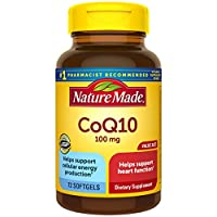 Nature Made CoQ10 100 mg Softgels, 72 Count Value Size for Heart Health† (Packaging May Vary)