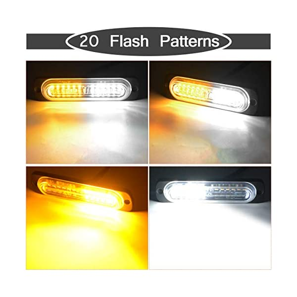 New ECCO Surface Mount RED LED Light Head Strobe Pattern Flash
