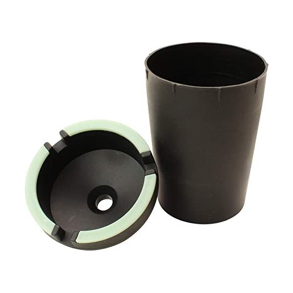 VIP Home Essentials Stub Out Glow in The Dark Cup-Style Self-Extinguishing Butt Bucket Ashtray Black, Jumbo