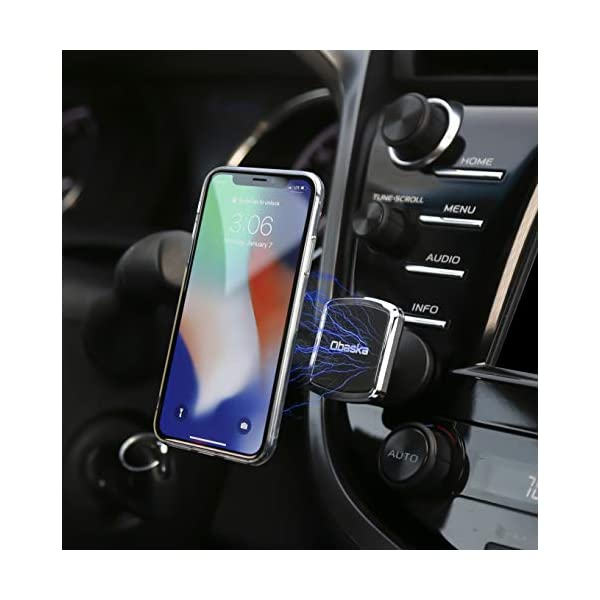 Car Phone Mount with 4 Super Strong Magnets for iPhone Xs Max XR X 8 7 6S 6 Plus Samsung Galaxy S9 S8 S7 S6 /& All Smartphones /& GPS Mini Tablets 4351493927 Obaska Magnetic Cell Phone Holder for Car Air Vent