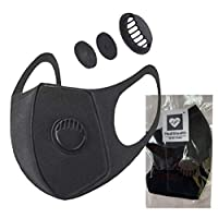 Medistealth Face Covering for Travel with Activated Air Valve | A Fashionable, Reusable Mouth & Nose Layer |