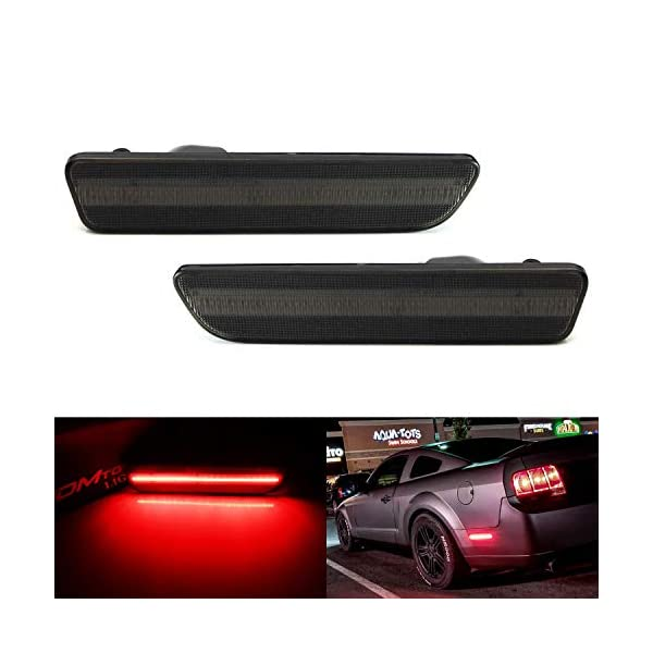 Powered by 16 Super Bright Red LED Emitters iJDMTOY Smoked Lens LED 3rd Brake Light For 2005-2009 Ford Mustang